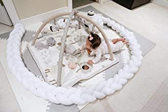 ZeroBaby Baby Crib Bumper 4 Braided cot Gift Pillow Cushion Nursery Cradle Decor Gift Pillow Cushion Nursery 7.2 feet 2.2M