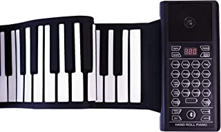 iLearnMusic Roll Up Piano Premium Grade Silicone |THICKENED KEYS | Upgraded Built-in Amplifying Speakers | Portable Piano Keyboard MIDI USB (88 Keys)