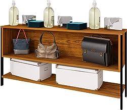 Estante Organizador 2 vistas Modelo 12060 con un cajón fijo reversible y un entrepaño inferior ancho 120 cm, alto 60 cm, t...