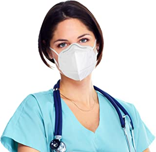 KN95 Face Masks | Bulk Pack of 100 Large Disposable General Use Non-Woven Polypropylene Mouth & Nose Coverings with Stretc...