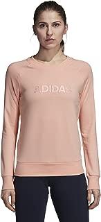 adidas Women's Pullover Ess Allcap Crew Neck Sweater, Haze Coral, Small