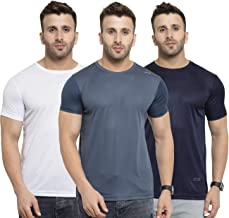 AWG ALL WEATHER GEAR Men's Polyester Round Neck T-Shirts - Pack of 3