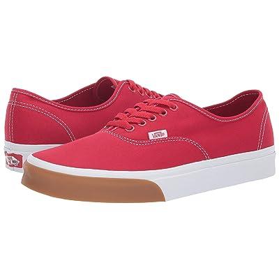 Vans Authentictm ((Gum Bumper) Red/True White) Skate Shoes