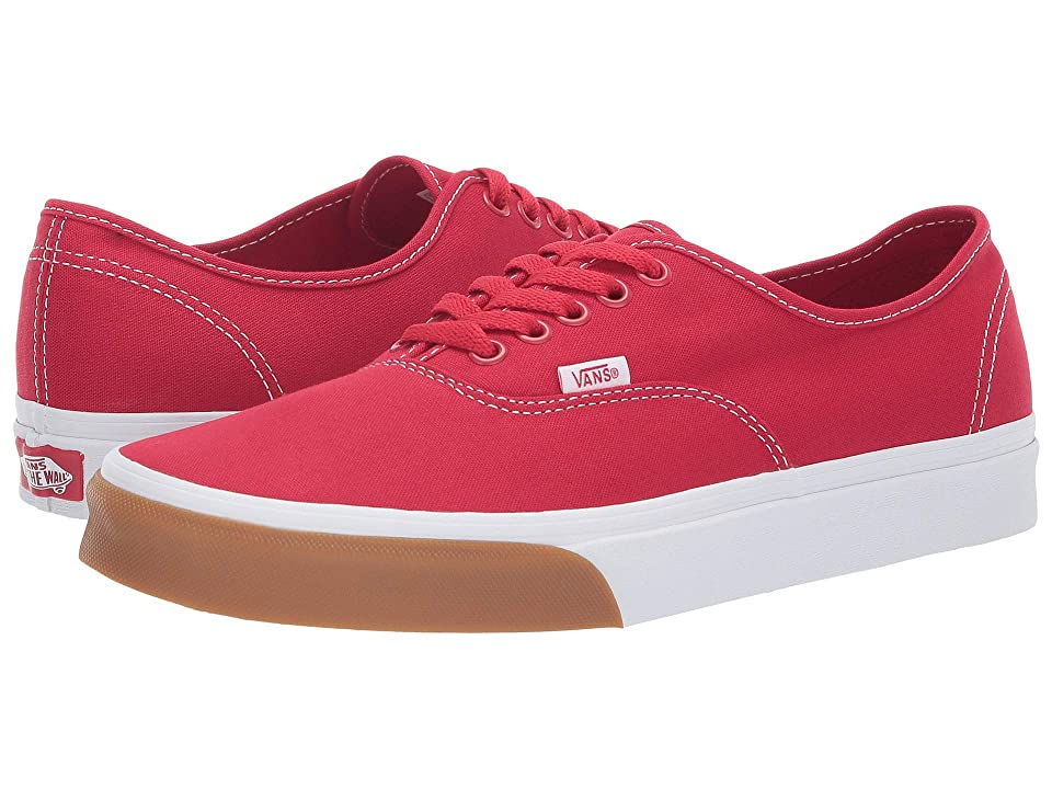 Vans Authentictm ((Gum Bumper) Red/True White) Skate Shoes