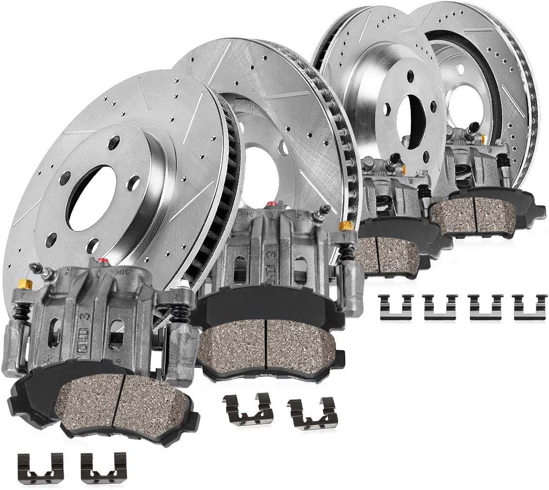 Callahan CCK03081 FRONT Safety and trust + Max 73% OFF REAR Calipers 4 OE Loaded Dril
