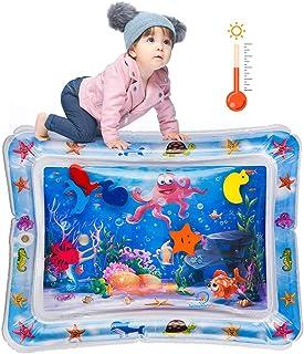 Sinwind Almohadilla Agua Inflable, Cojín de Agua Inflable para bebé, Colchones de agua inflables de tiempo boca abajo para bebés y niños pequeños, Estimulación del Crecimiento de Bebé