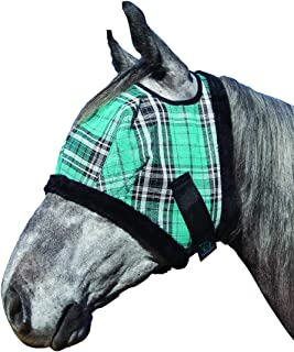 Kensington Fly Mask with Fleece Trim for Horses — Protects Face and Eyes From Flies and UV Rays While Allowing Full Visibility —  Breathable and Non Heat Transferring Makes it Perfect Year Round
