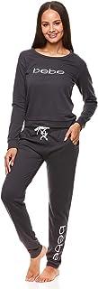 Womens Cuffed Long Sleeve Shirt and Skinny Lounge Pajama...