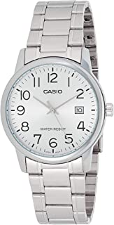 Casio Men's Silver Dial Stainless Steel Analog Watch - MTP-V002D-7BUDF