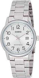 ساعة رسمية ستانلس ستيل من كاسيو للرجال، فضى - MTP-V002D-7BUDF