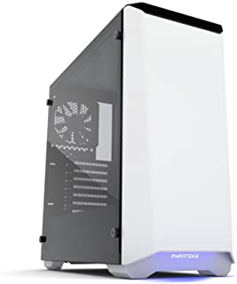 Phanteks Eclipse P400 Tempered Glass Midi-Tower Blanco - Caja de Ordenador (Midi-Tower, PC, Acrilonitrilo butadieno estireno (ABS), Vidrio, Acero, Blanco, ATX,EATX,Micro ATX,Mini-ITX, Juego)