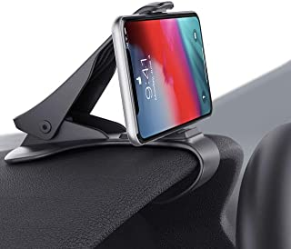 Car Phone Holder Clamp Arm Car Mount Dashboard Mobile Clip Stand HUD Design Compatible for iPhone Xs,X, 8, 8 Plus, 7, 7 Plus, Samsung Galaxy S9,S8, S8 Plus, S7, Note 9 Edge and More(3.0-6.5inch)