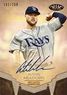 2019 Topps Tier One #BA-AME Austin Meadows Certified Autograph Baseball Card - Only 250 made!