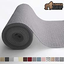 Gorilla Grip Original Drawer and Shelf Liner, Non Adhesive Roll, 12 Inch x 20 FT, Durable and Strong, for Drawers, Shelves, Cabinets, Storage, Kitchen and Desks, Gray