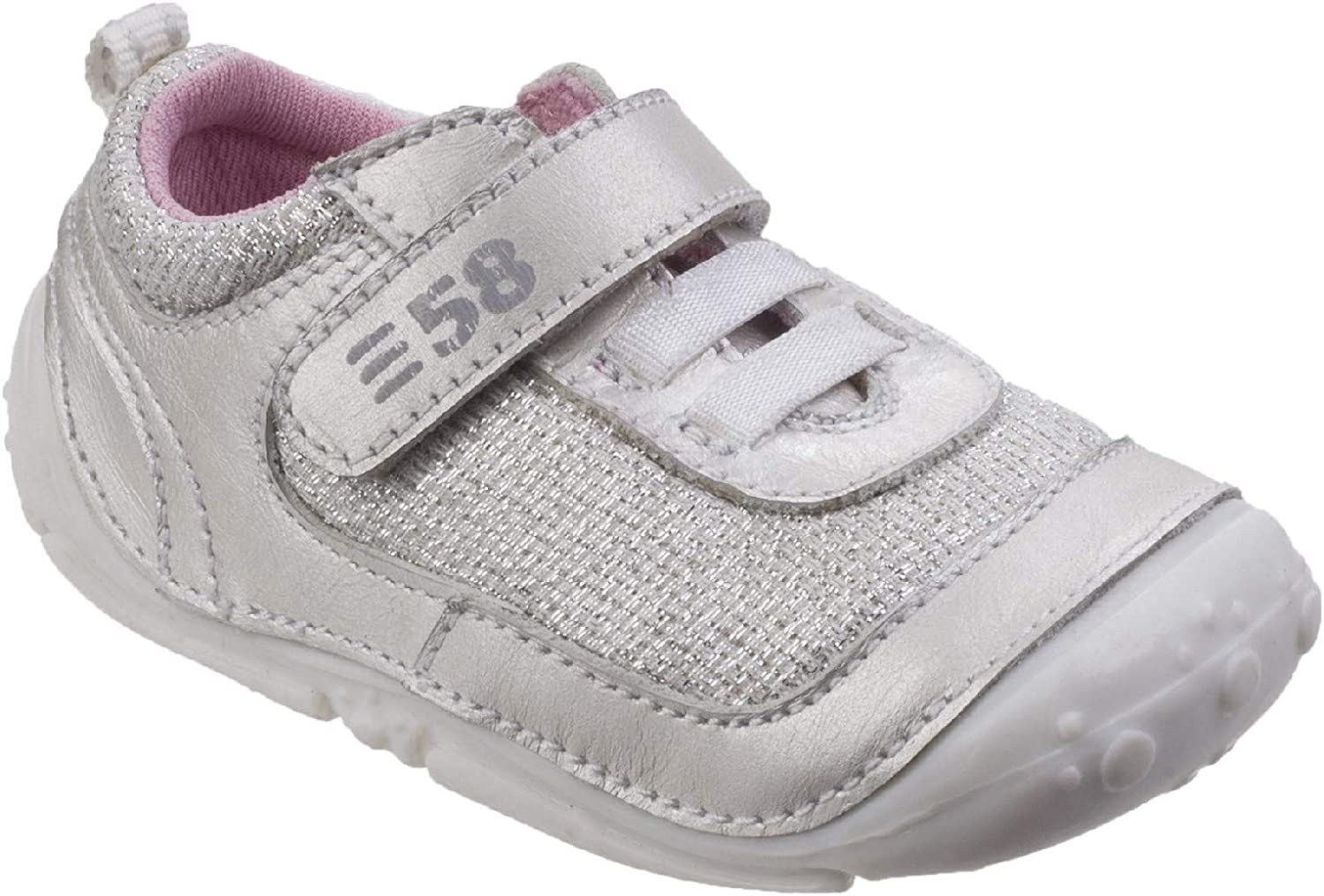 Hush Puppies Womens Livvy Touch Fastening shoes Silver Size UK 4 EU 20