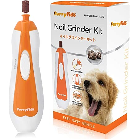 Pet Nail Grinder File by FurryFido, Gentle, Powerful and Safe Paws Grooming l with 6 Sanding Bands for Small and Middle Pet Paws Trimming, and Shaping