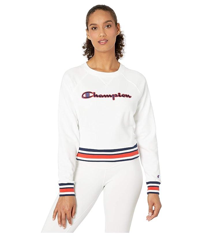 Champion  Campus French Terry Crew (White) Womens Sweatshirt