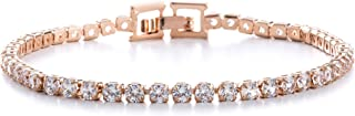 AUBREY LEE Round Cubic Zirconia Tennis Bracelet for Women