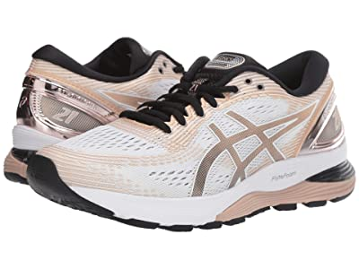 ASICS GEL-Nimbus(r) 21 (White/Frost Almond) Women