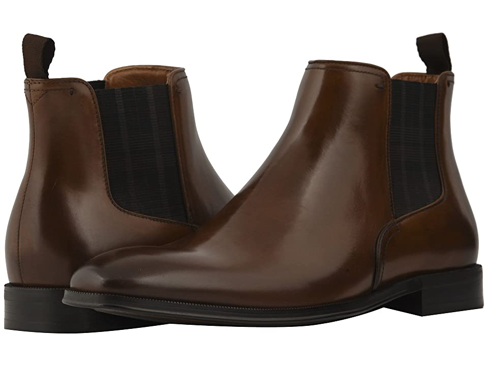 Florsheim Belfast Plain Toe Gore Boot (Cognac Smooth) Men