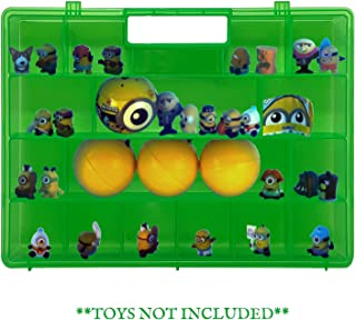 Life Made Better Toy Figures Redesigned Green Easy to Carry Storage Box. Compatible with Despicable Me Toys, Toy Accessories Case for Kids