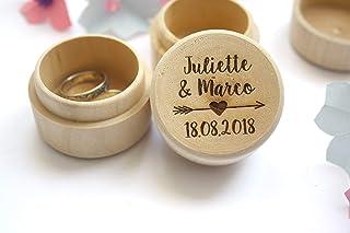 Scatola porta fedi matrimonio, scatola personalizzata con nomi e data del matrimonio, stile bohémien. Decorazione freccia ...