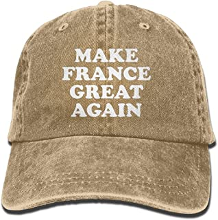 PINE-TREE-CAP Make France Great Again Mom Hat Baseball Cap Trucker Cap Washed Denim Cotton Adjustable Natural