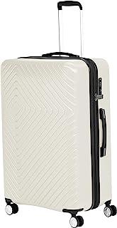 Amazon Basics - Trolley con motivo geometrico, 78 cm, Crema