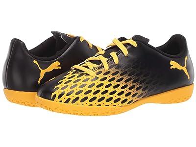 Puma Kids Spirit III IT Soccer (Little Kid/Big Kid) (Black/Ultra Yellow) Kids Shoes