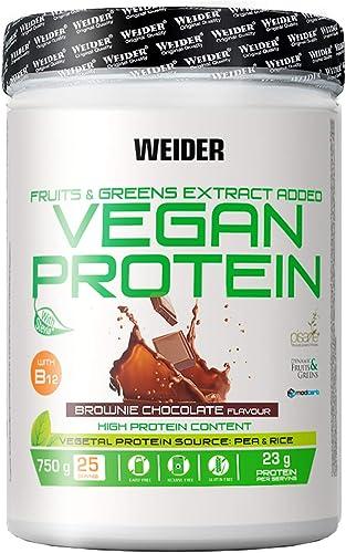 Weider Vegan Protein Powder - Goût Chocolat - protéines de pois et de riz - 100% vegan - sans gluten - sans lactose -...
