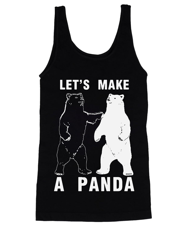 Let 's Make aパンダブラックとホワイトBearsメンズタンクトップシャツ
