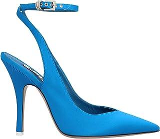 Luxury Fashion | Attico Women 202WS115V015014 Blue Fabric Heels | Autumn-winter 20