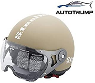 Steelbird SB 27 Open Face Helmet (Desert) With AUTOTRUMP Brand helmet lock
