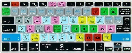 میانبرهای میانبر XSKN Adobe Keyboard Cover Keyboard Keyboard Keyboard برای Macbook Air 13 و Macbook Pro 13 15 17 ، شبکیه چشم (صفحه کلید ISO ISO / US)