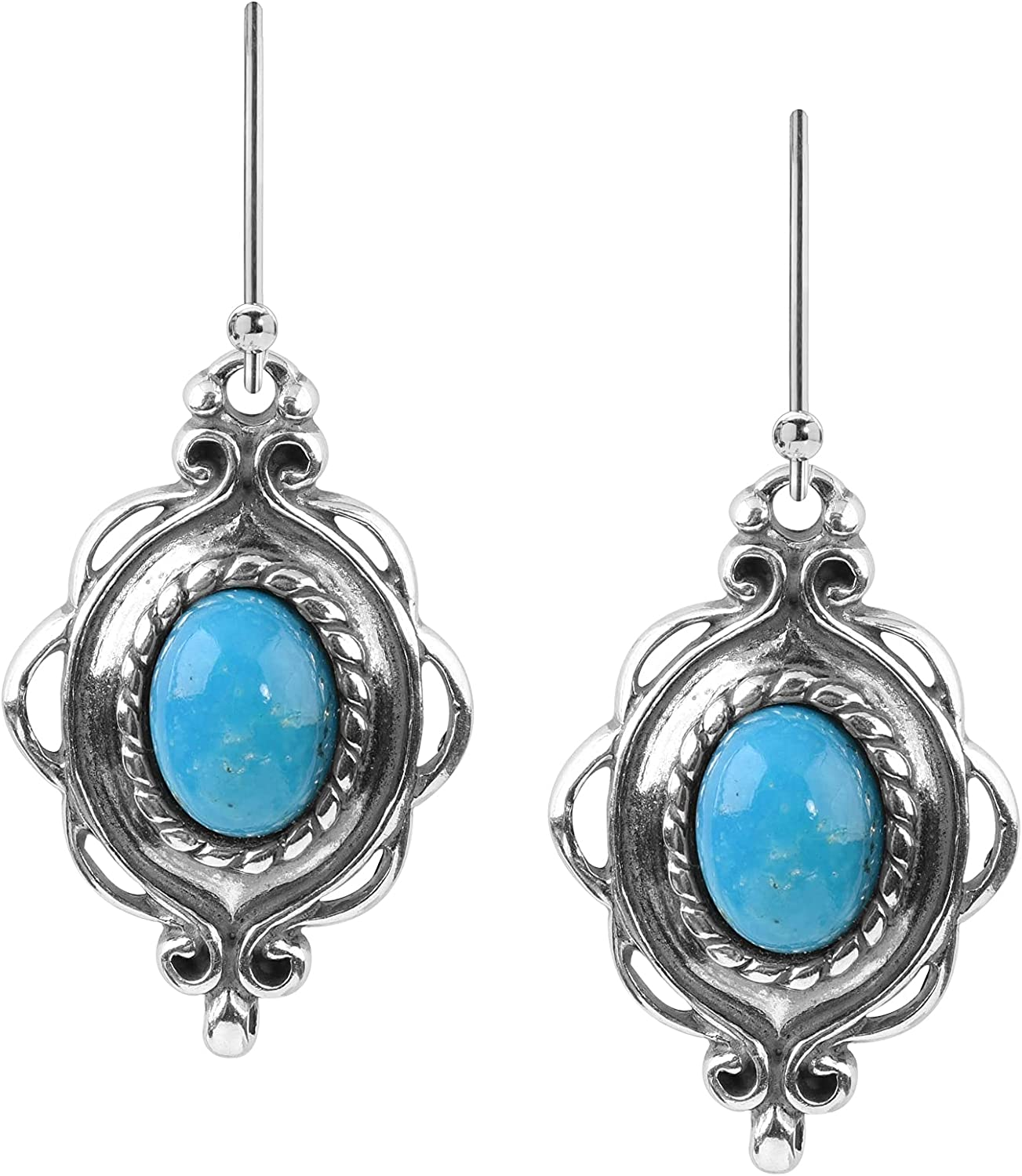 70%OFFアウトレット American West Sterling ファクトリーアウトレット Gemstone Dangle Earrings Choice Drop - of