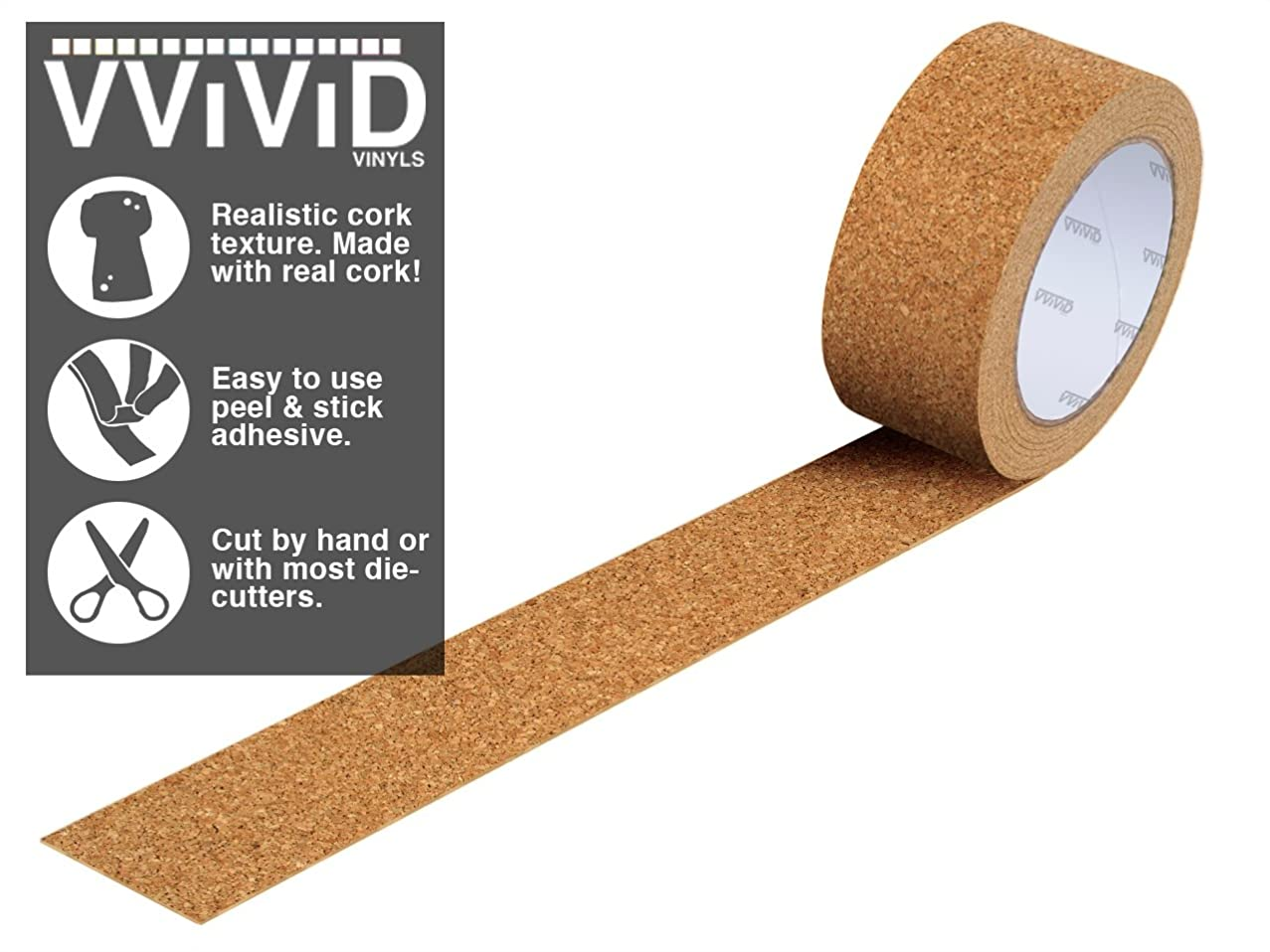 VViViD Natural Cork Adhesive Vinyl Tape Roll (2