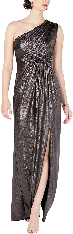 70s Sequin Dresses, Disco Dresses Adrianna Papell Womens Metallic Jersey Dress  AT vintagedancer.com