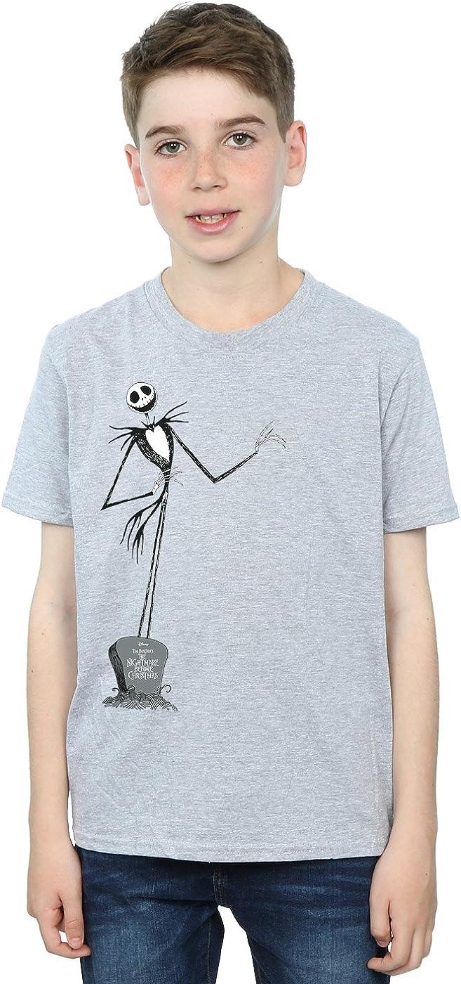 Disney Boys Nightmare Before Christmas Jack Pose T-Shirt 12-13 Years Sport Grey