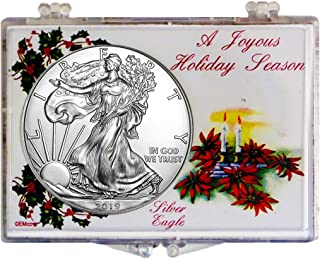 2019 - American Silver Eagle in Christmas Holder Dollar Uncirculated US Mint