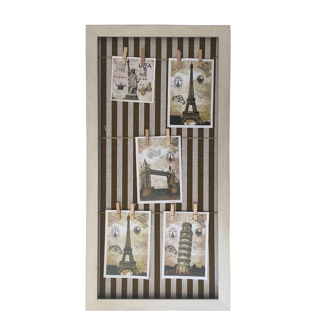 一方、動的セッティング壁掛けフォトフレーム CLIP PHOTO DISPLAY(クリップライン フォトディスプレイ) フォトクリップ 家の装飾の甘い写真を表示します (60x30, ブラウン)