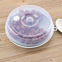 Weiyiroty Cubierta de Placa de microondas, Tapa de Placa de microondas Transparente portátil, Resistente al Aceite para Piezas de Horno de microondas para Accesorios de Horno de microondas(Small)