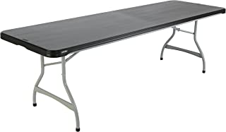 Lifetime Products 480462 Commercial Rectangular Folding Table (4 Pack), 8', Black
