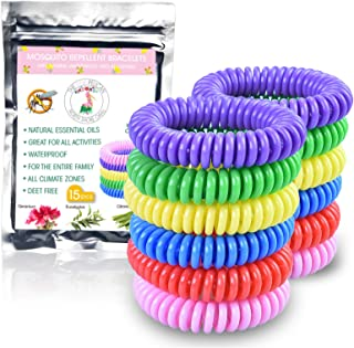 4pk Mosquito Repellent Bracelets Kids Adults Natural Citronella Bands /& Refills