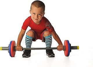 WOD Toys Barbell Mini - Adjustable Barbell Set for Kids Fitness - Safe, Durable Kids Fitness Toys