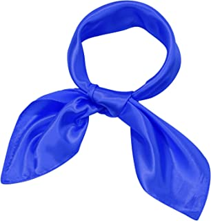 Silk Like Scarf Square Scarf Satin Headscarf Neck Scarves for Women and Girls