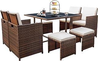 Amazon Com Rattan Patio Furniture Sets Patio Furniture