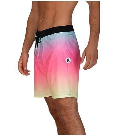 Hurley 18 Phantom Hyperweave Fade Out Boardshorts (Digital Pink) Men