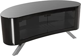 AVF Affinity Plus - Bay Plus 1150 Curved TV Stand (Black/Black Glass)