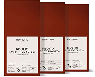 Risotto-Reis-Mischung Tomate Basilikum 3x 250 g Bio-Carnarolli aus Italien