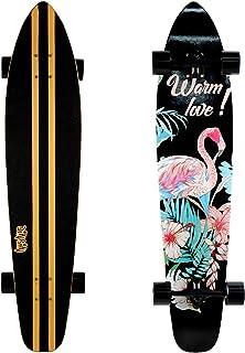 Aloiki Longboard Drop Through Roll Brett CRUISER NERO BLU FANTIC 26 skate Tool